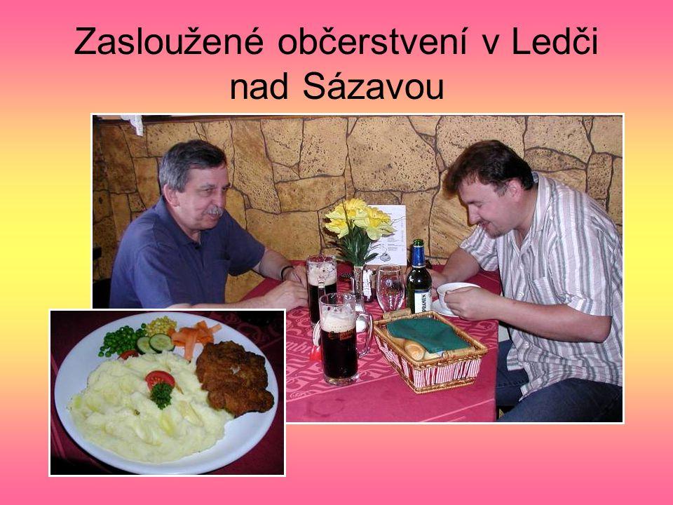 Zasloužené občerstvení v Ledči nad Sázavou