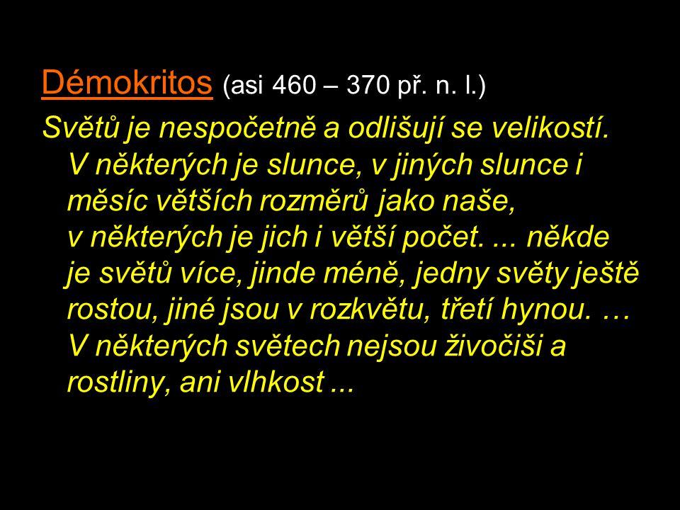 Démokritos (asi 460 – 370 př. n. l.)