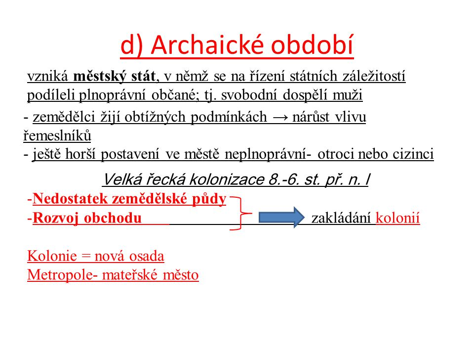 Velká řecká kolonizace 8.-6. st. př. n. l