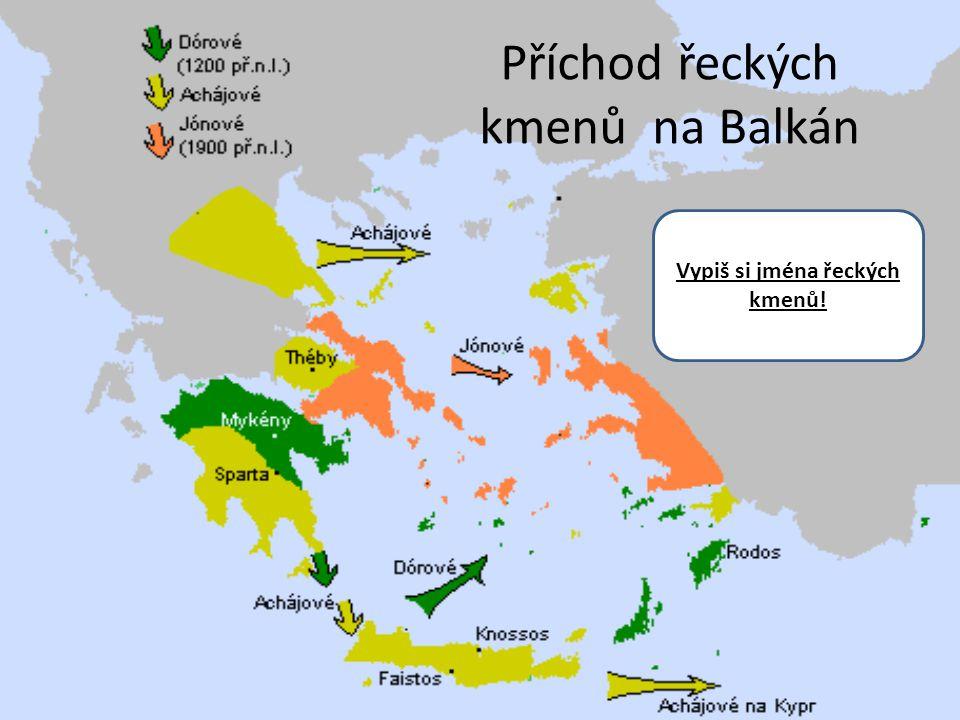 Příchod řeckých kmenů na Balkán