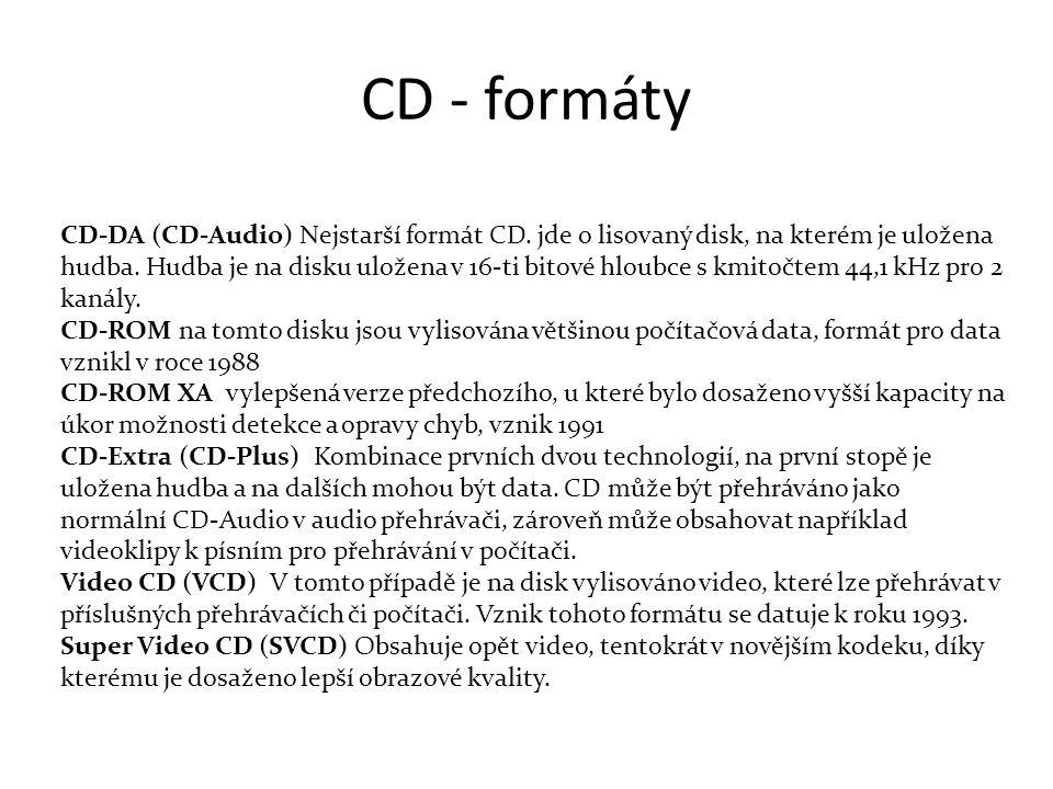 CD - formáty