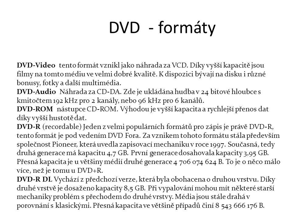 DVD - formáty