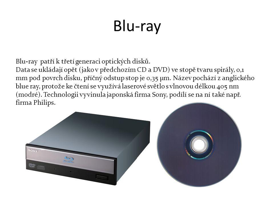 Blu-ray Blu-ray patří k třetí generaci optických disků.