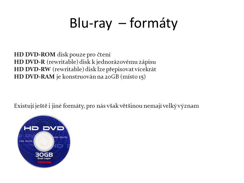 Blu-ray – formáty HD DVD-ROM disk pouze pro čtení