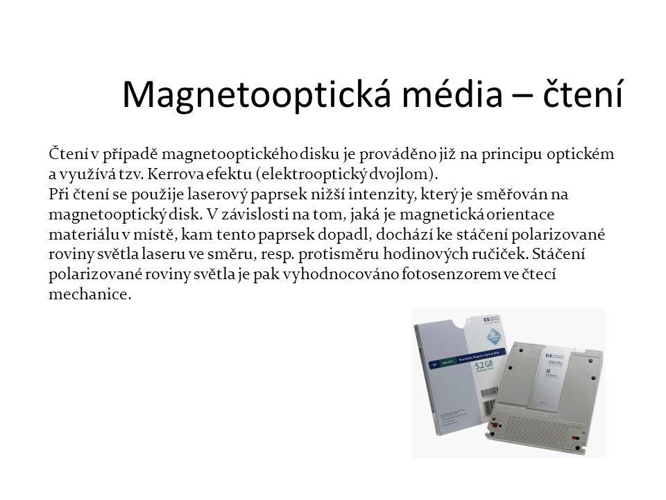 Magnetooptická média – čtení
