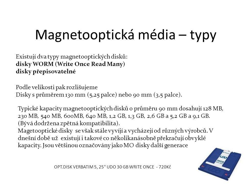 Magnetooptická média – typy