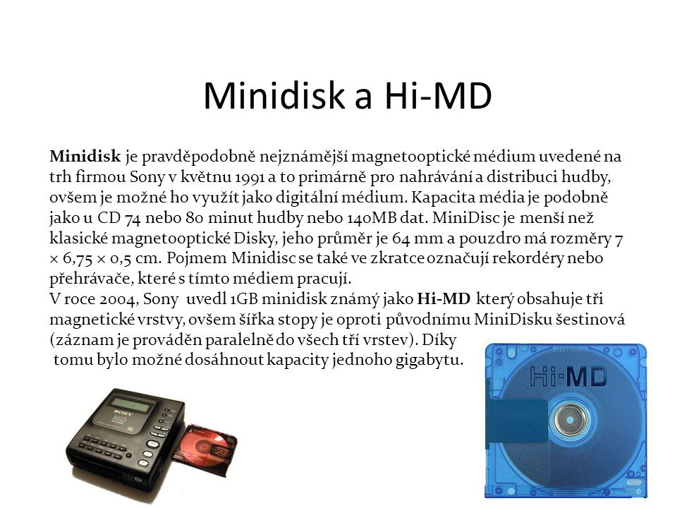 Minidisk a Hi-MD