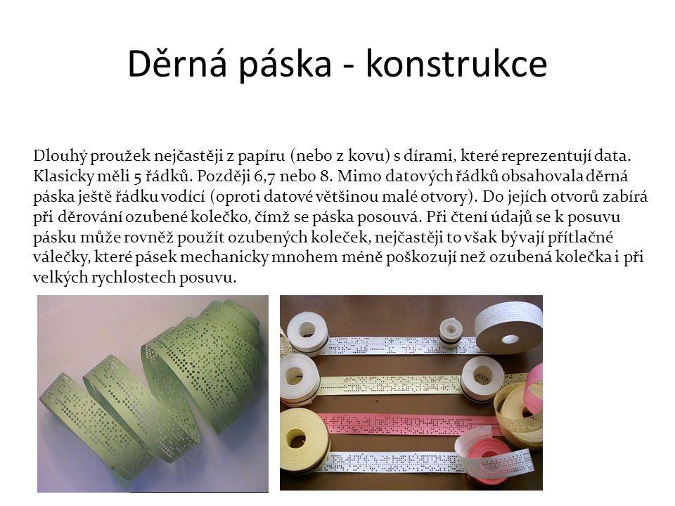 Děrná páska - konstrukce
