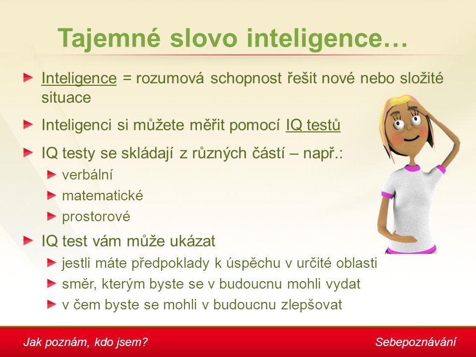 Tajemné slovo inteligence…