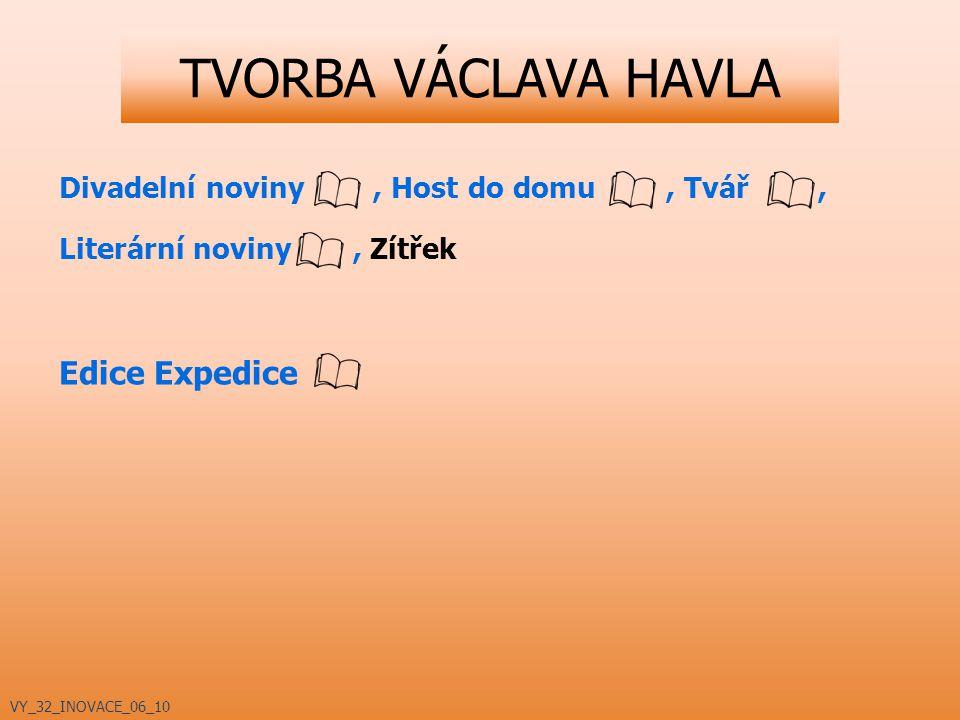 TVORBA VÁCLAVA HAVLA Edice Expedice