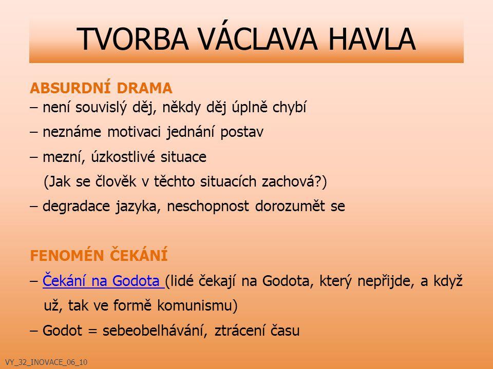 TVORBA VÁCLAVA HAVLA