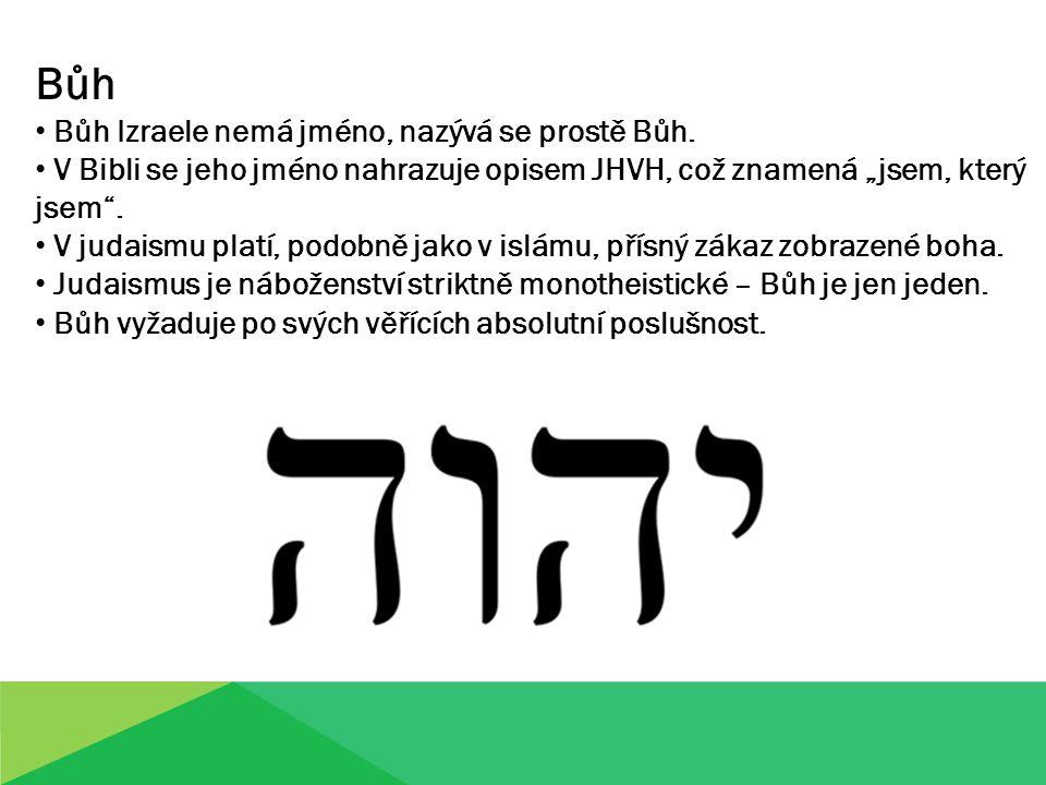 Bůh Bůh Izraele nemá jméno, nazývá se prostě Bůh.
