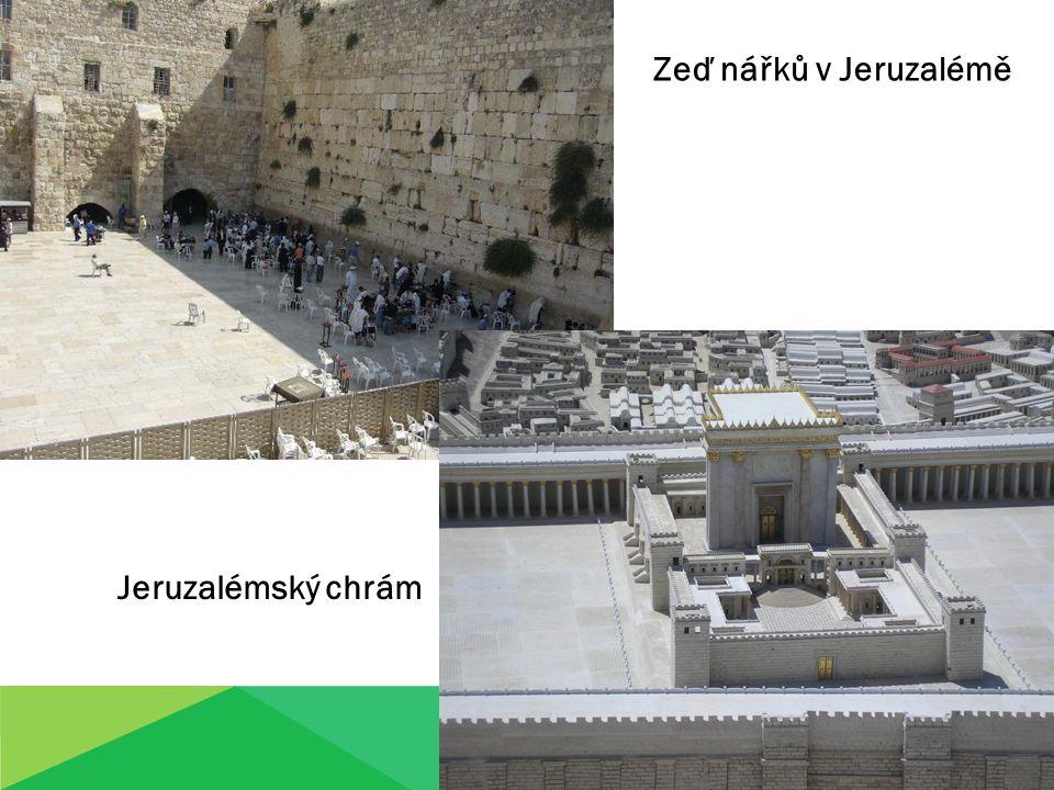 Zeď nářků v Jeruzalémě Jeruzalémský chrám