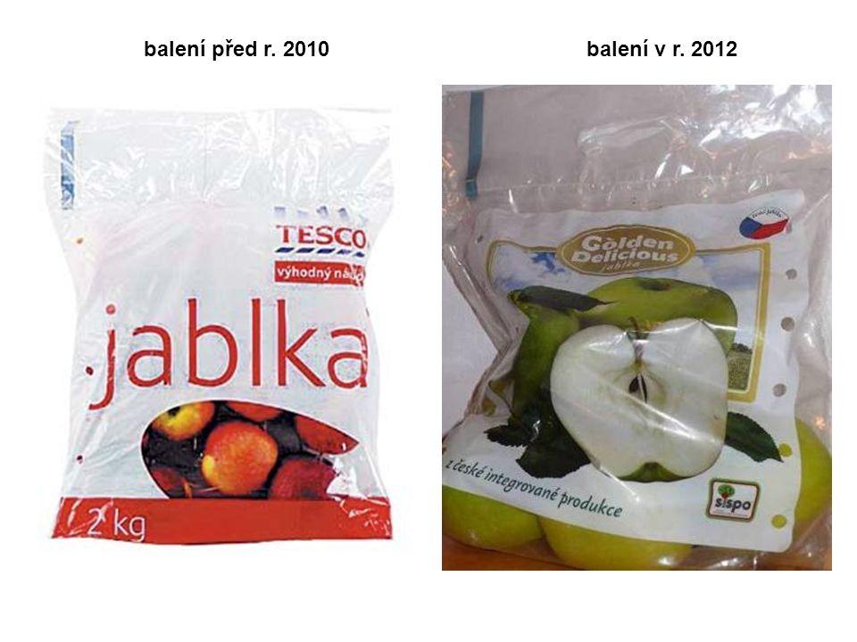 balení před r. 2010 balení v r. 2012