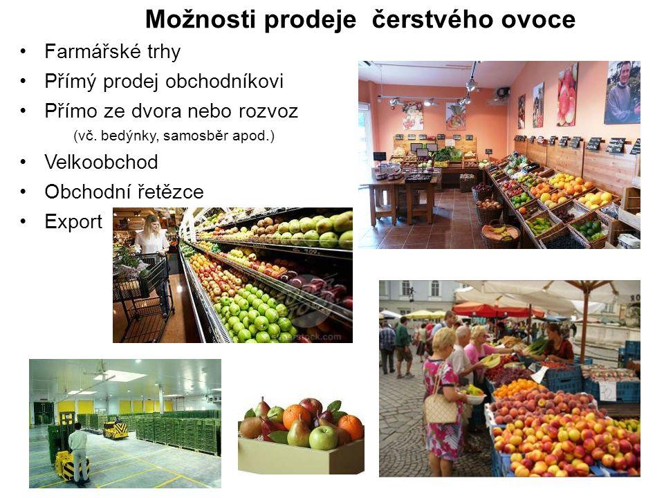 Možnosti prodeje čerstvého ovoce