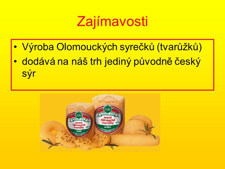 Zajímavosti Výroba Olomouckých syrečků (tvarůžků)