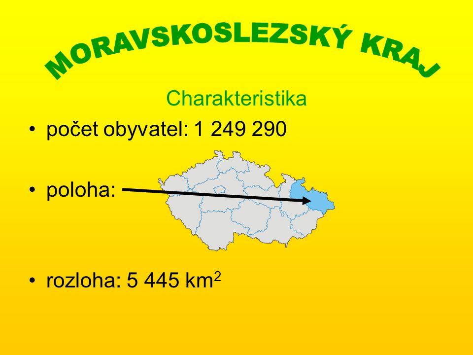 MORAVSKOSLEZSKÝ KRAJ Charakteristika počet obyvatel: 1 249 290 poloha: