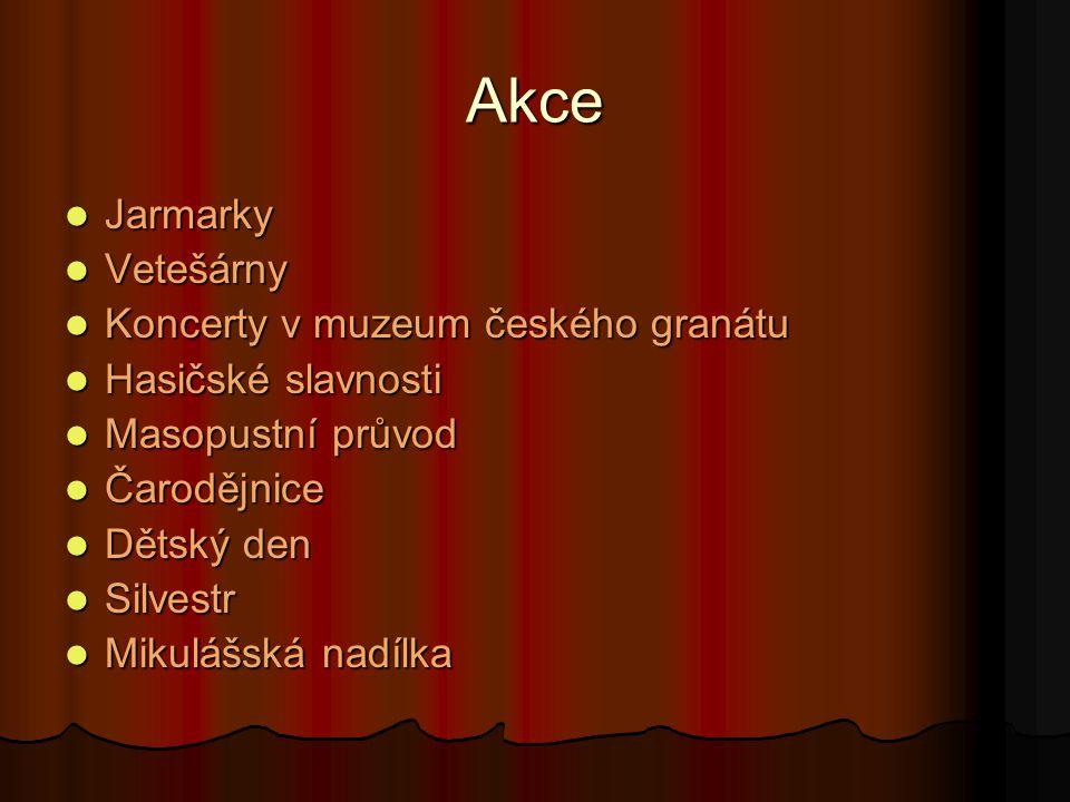Akce Jarmarky Vetešárny Koncerty v muzeum českého granátu