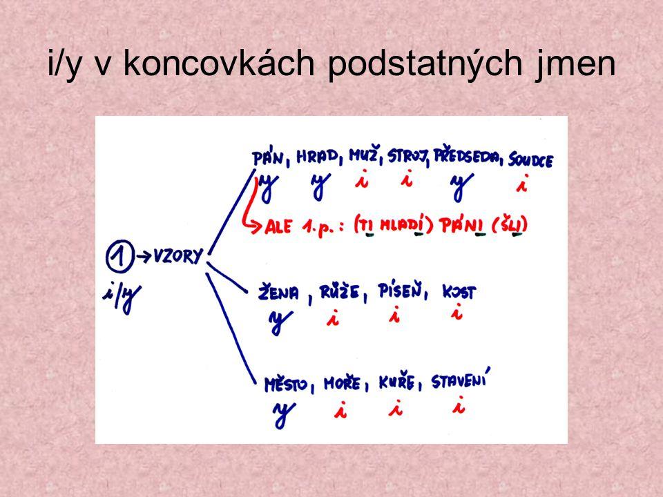 i/y v koncovkách podstatných jmen