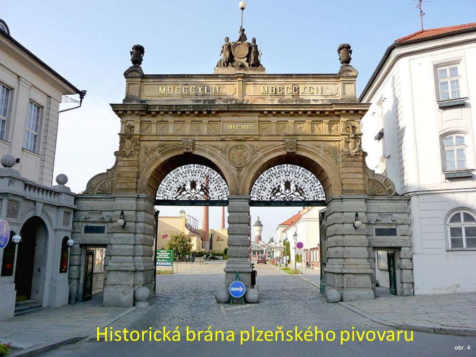 Historická brána plzeňského pivovaru