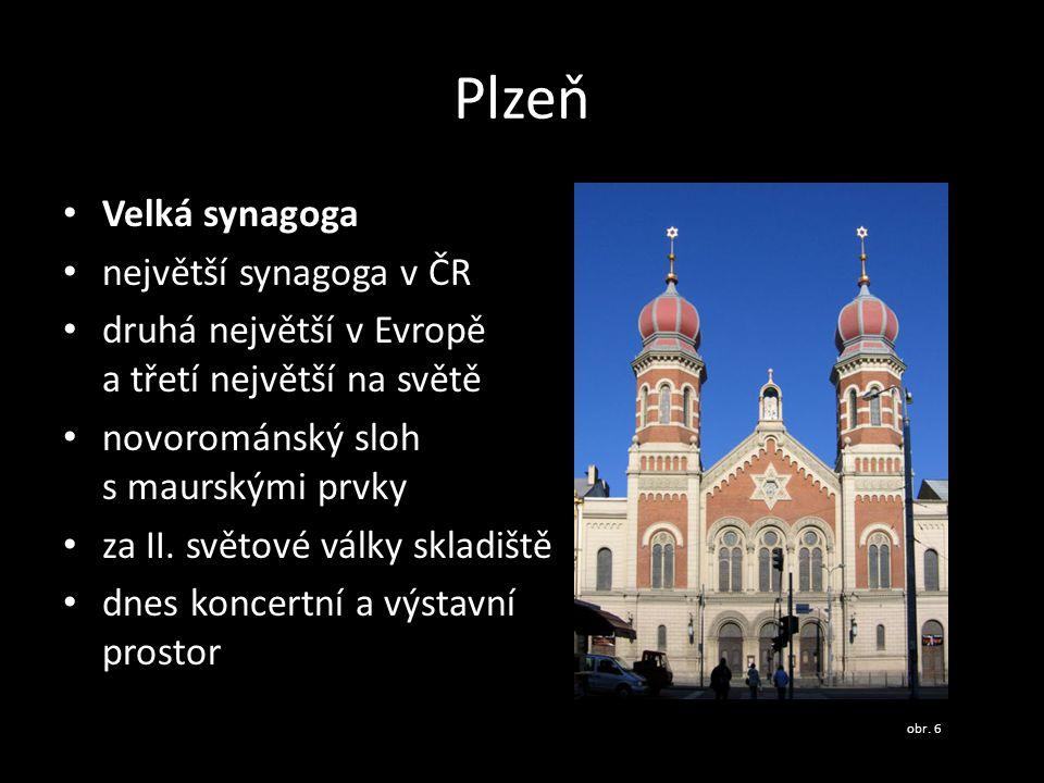 Plzeň Velká synagoga největší synagoga v ČR