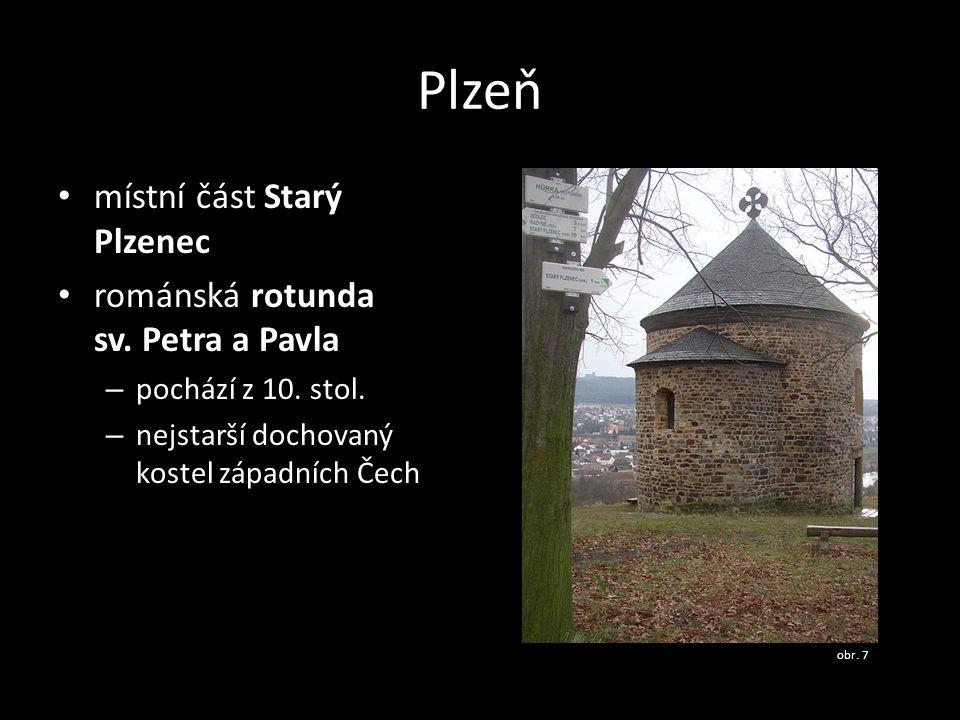 Plzeň místní část Starý Plzenec románská rotunda sv. Petra a Pavla