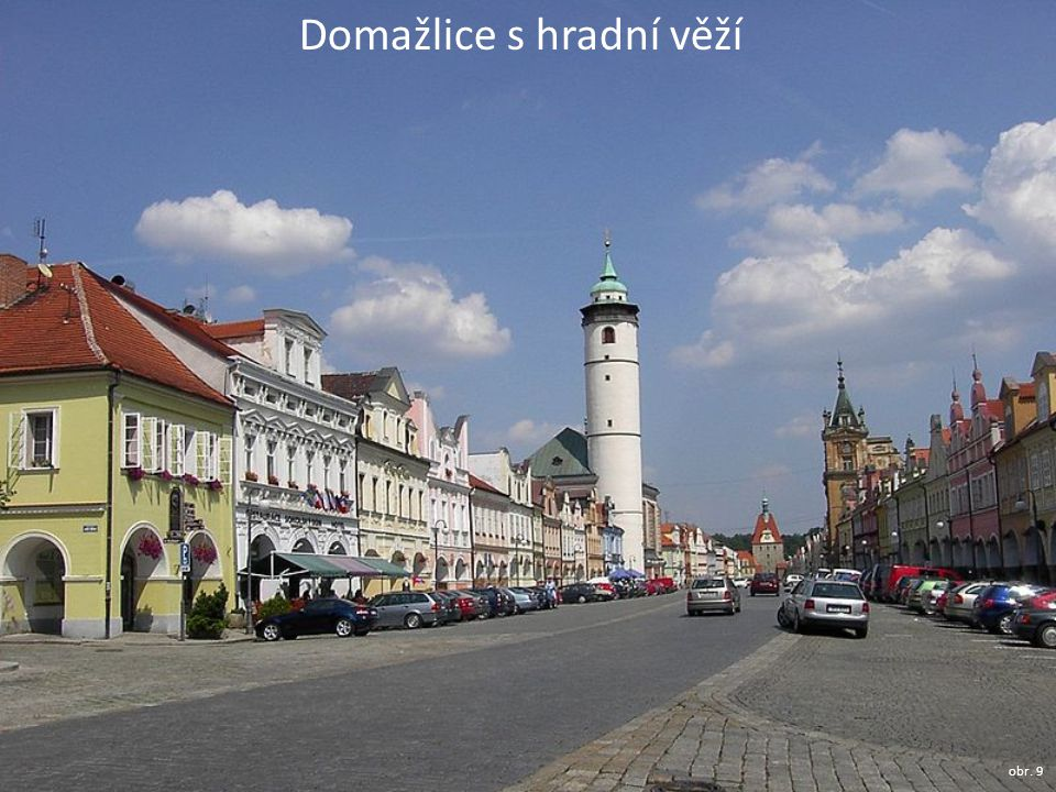 Domažlice s hradní věží