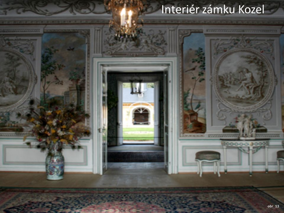 Interiér zámku Kozel obr. 13