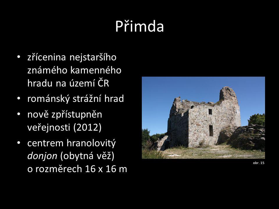 Přimda zřícenina nejstaršího známého kamenného hradu na území ČR