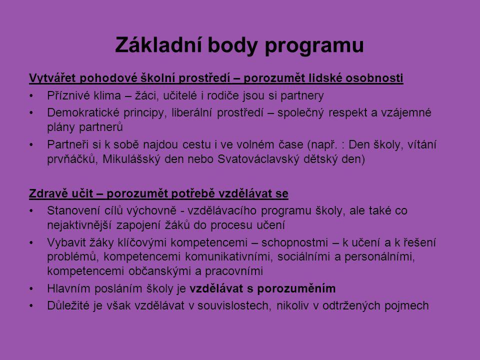 Základní body programu