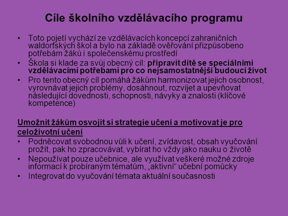 Cíle školního vzdělávacího programu