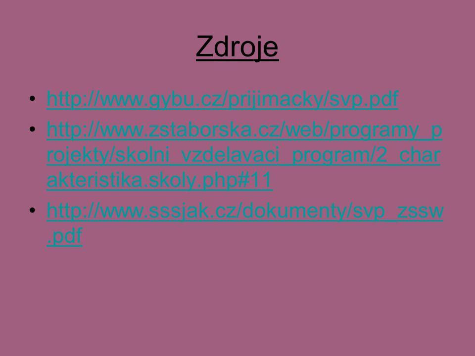 Zdroje http://www.gybu.cz/prijimacky/svp.pdf