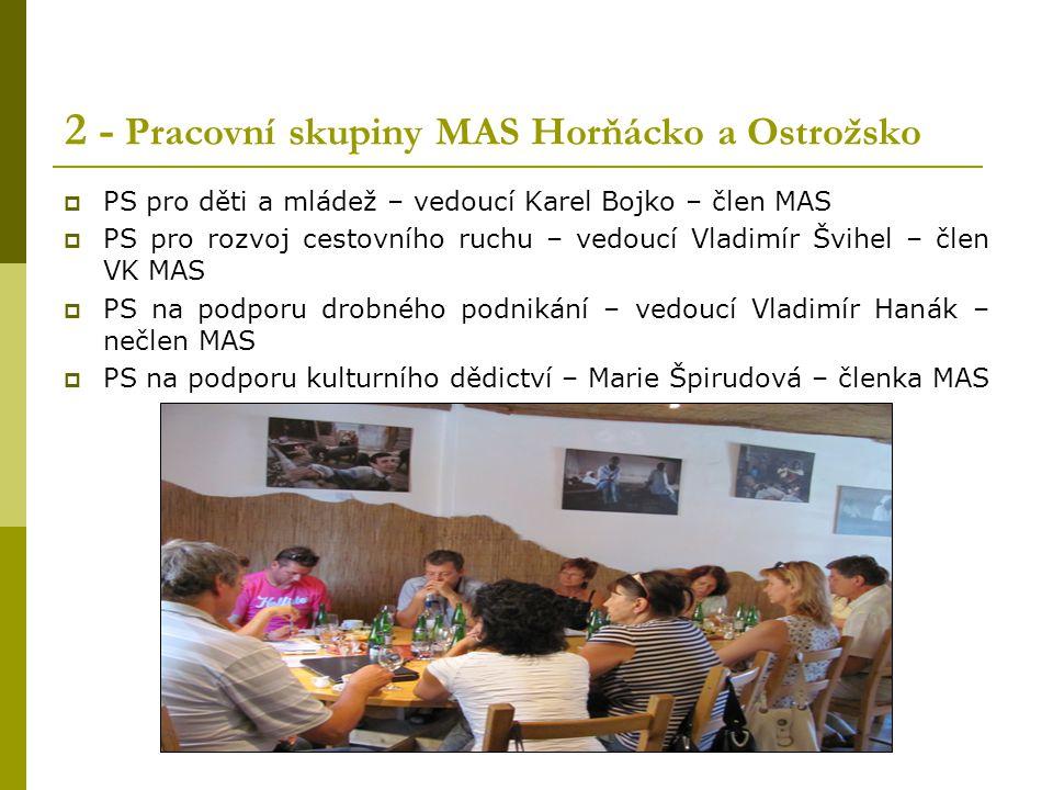 2 - Pracovní skupiny MAS Horňácko a Ostrožsko