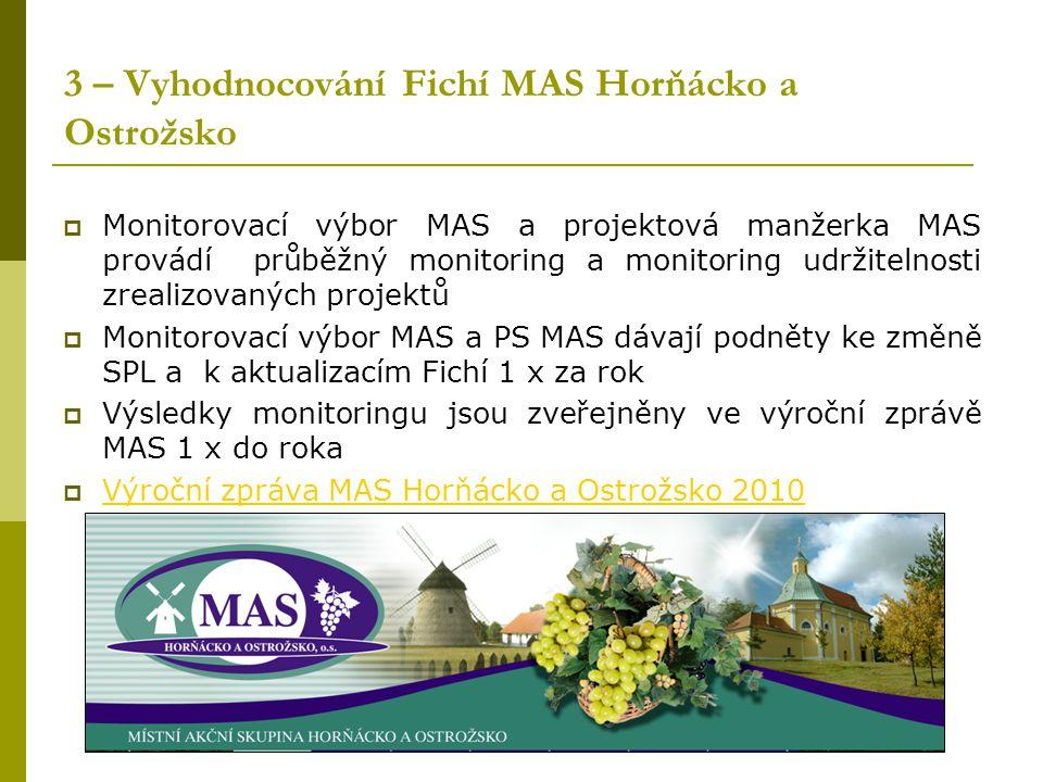 3 – Vyhodnocování Fichí MAS Horňácko a Ostrožsko