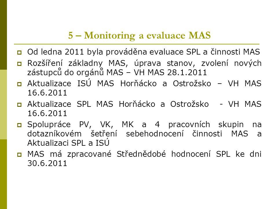 5 – Monitoring a evaluace MAS