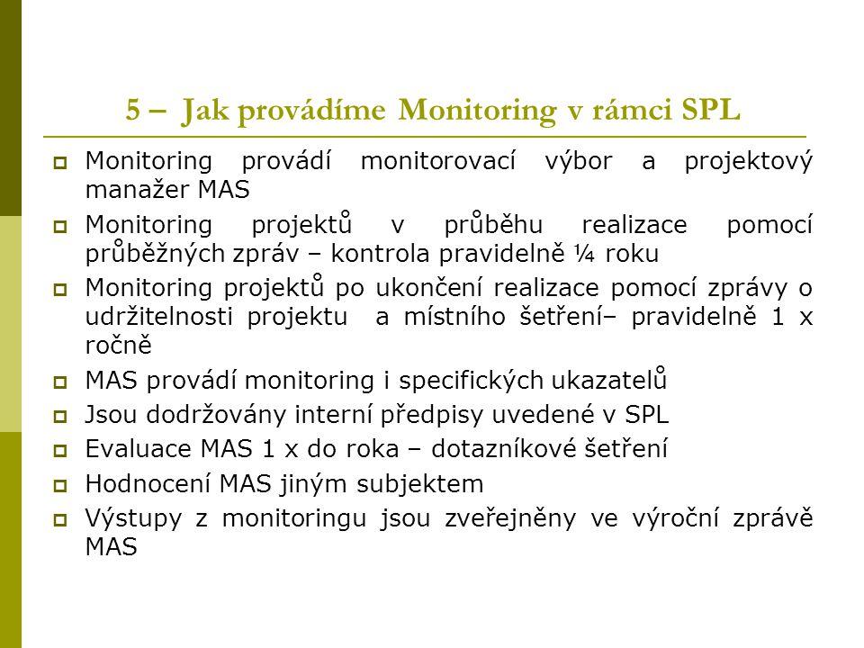 5 – Jak provádíme Monitoring v rámci SPL