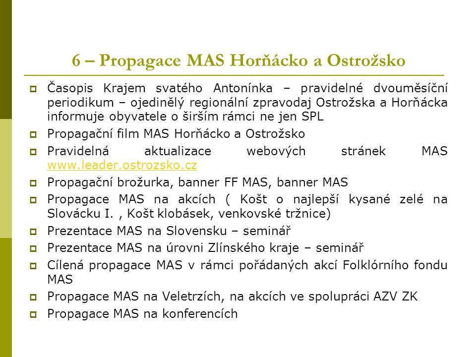 6 – Propagace MAS Horňácko a Ostrožsko