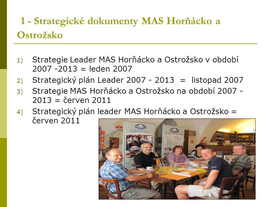 1 - Strategické dokumenty MAS Horňácko a Ostrožsko