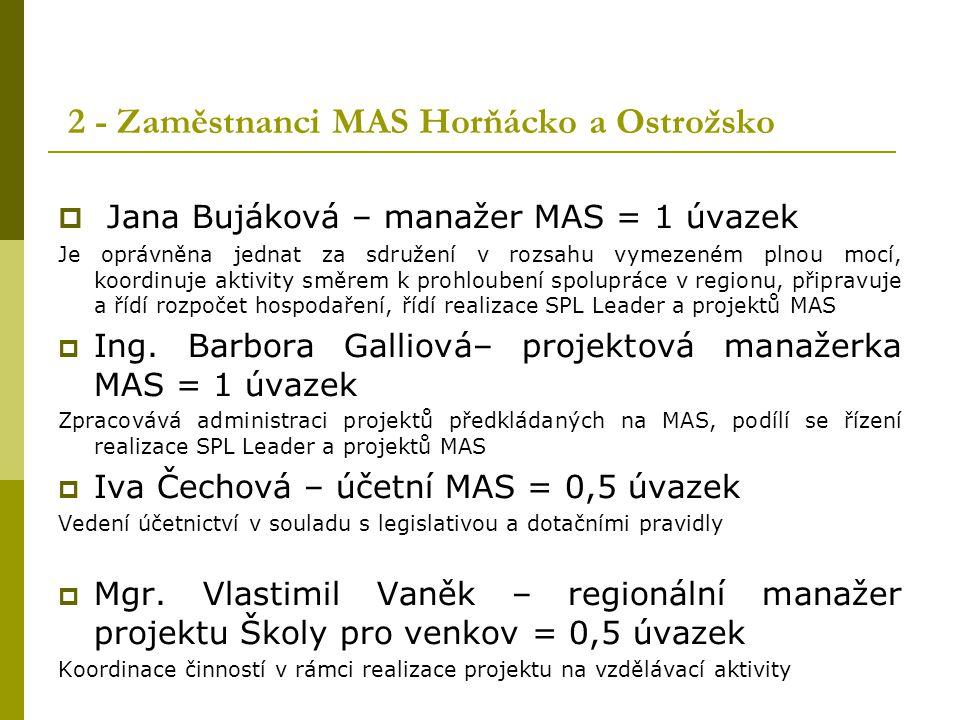 2 - Zaměstnanci MAS Horňácko a Ostrožsko