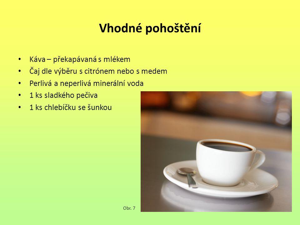 Vhodné pohoštění Káva – překapávaná s mlékem