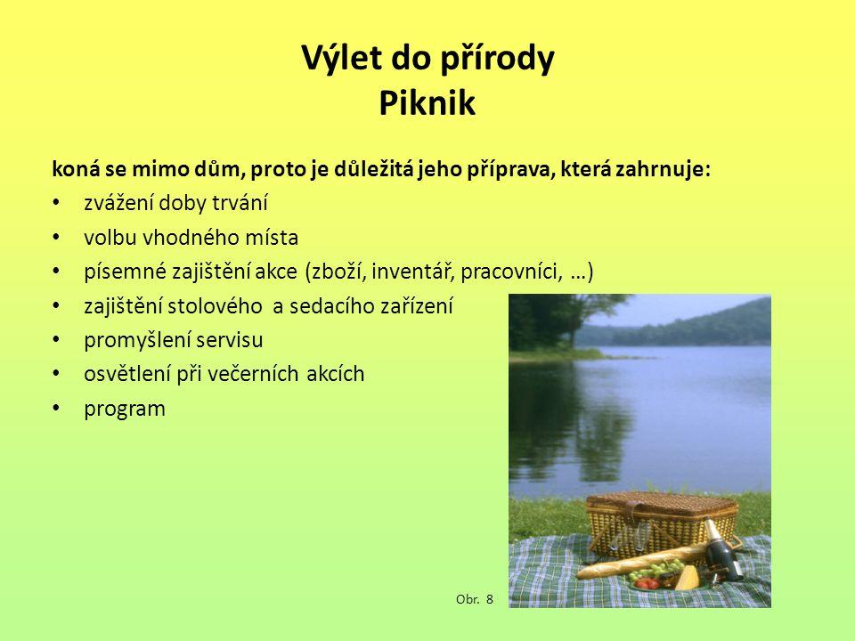 Výlet do přírody Piknik