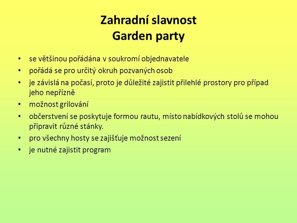 Zahradní slavnost Garden party