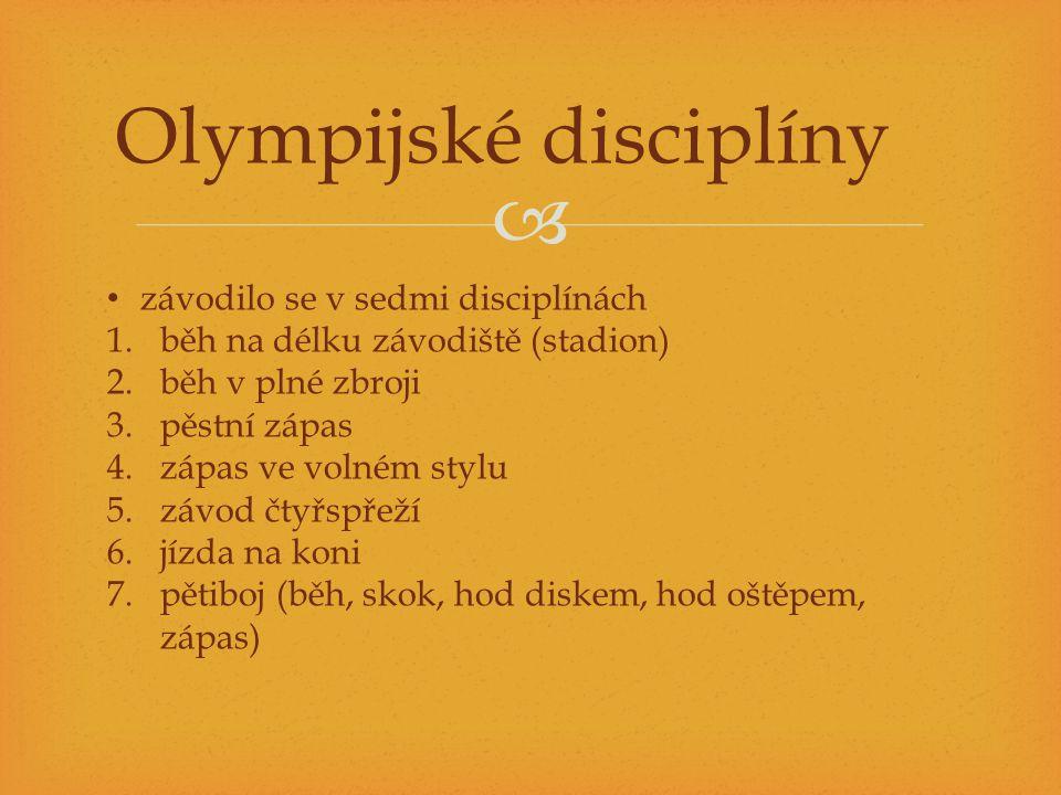 Olympijské disciplíny