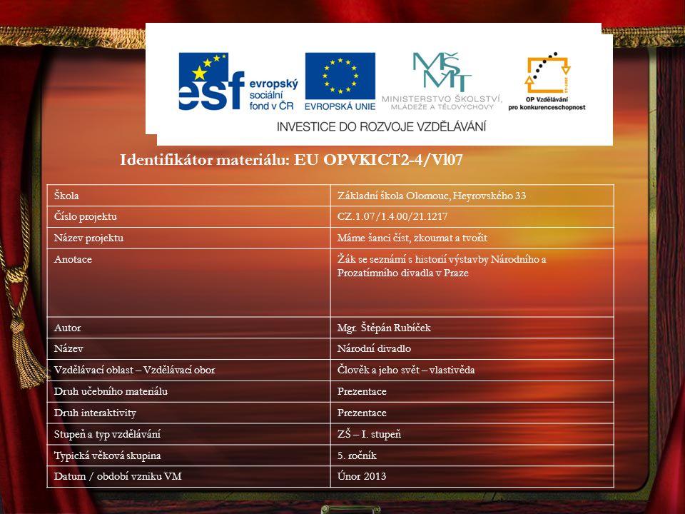 Identifikátor materiálu: EU OPVKICT2-4/Vl07