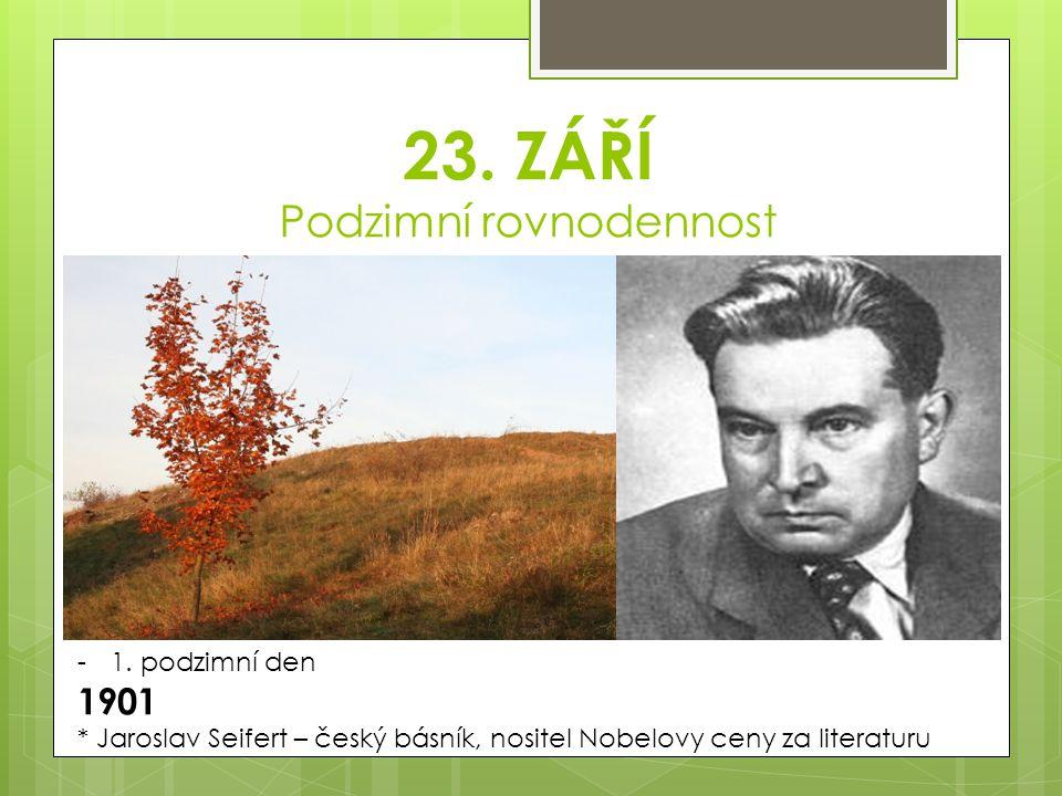23. ZÁŘÍ Podzimní rovnodennost