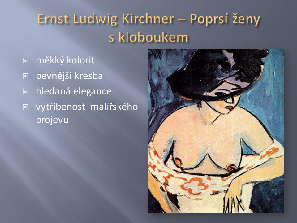 Ernst Ludwig Kirchner – Poprsí ženy s kloboukem