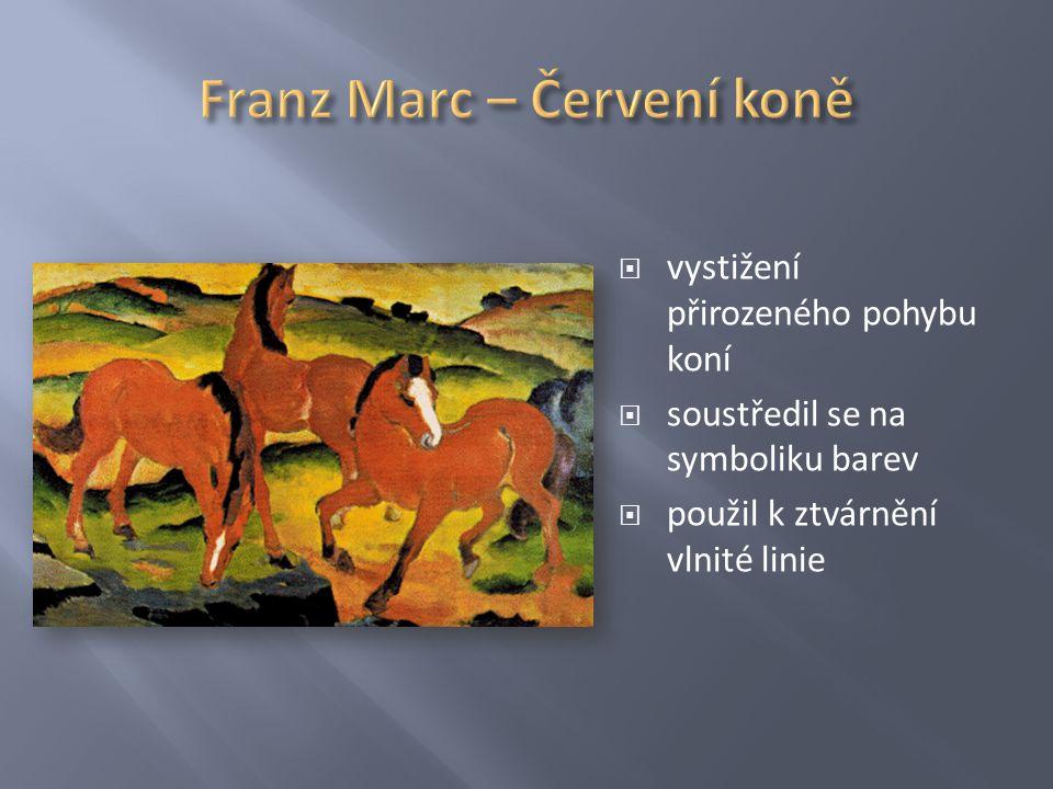 Franz Marc – Červení koně