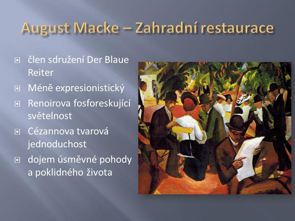 August Macke – Zahradní restaurace