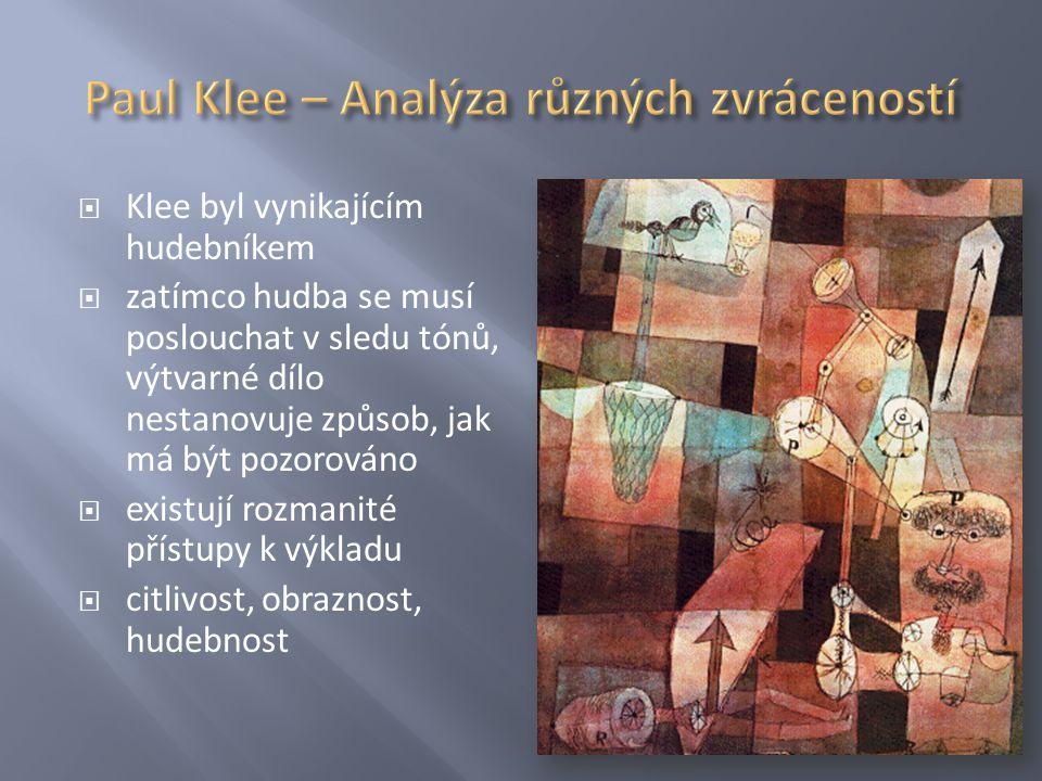 Paul Klee – Analýza různých zvráceností