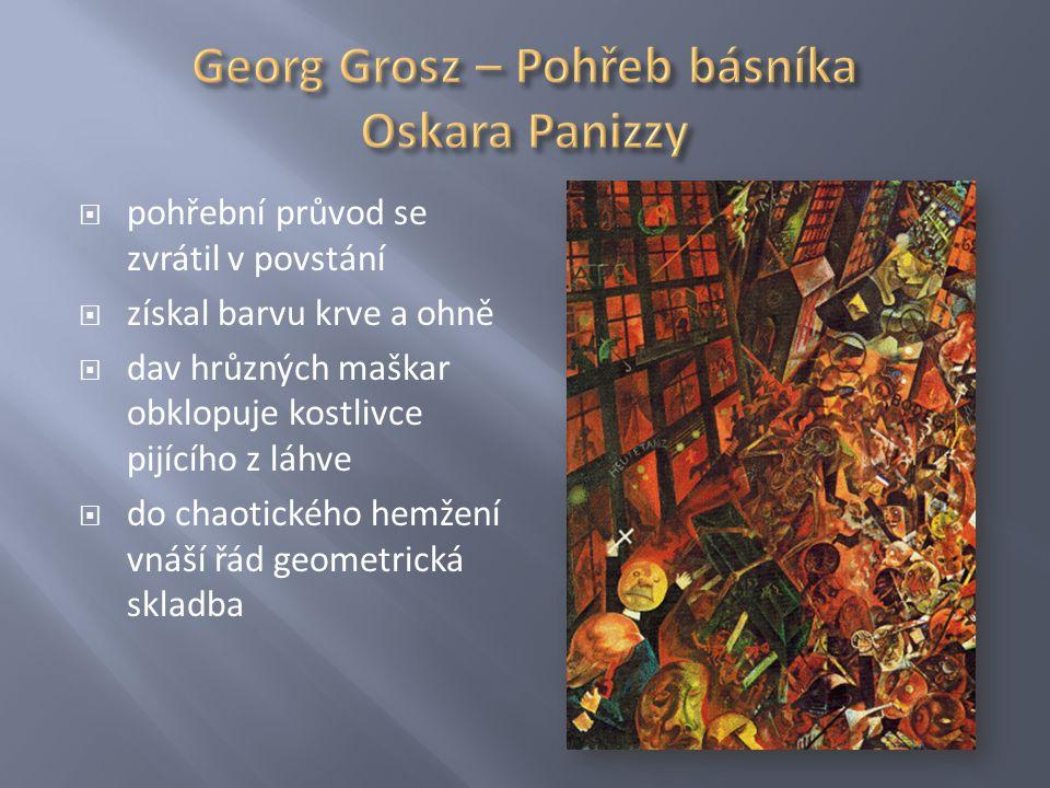 Georg Grosz – Pohřeb básníka Oskara Panizzy